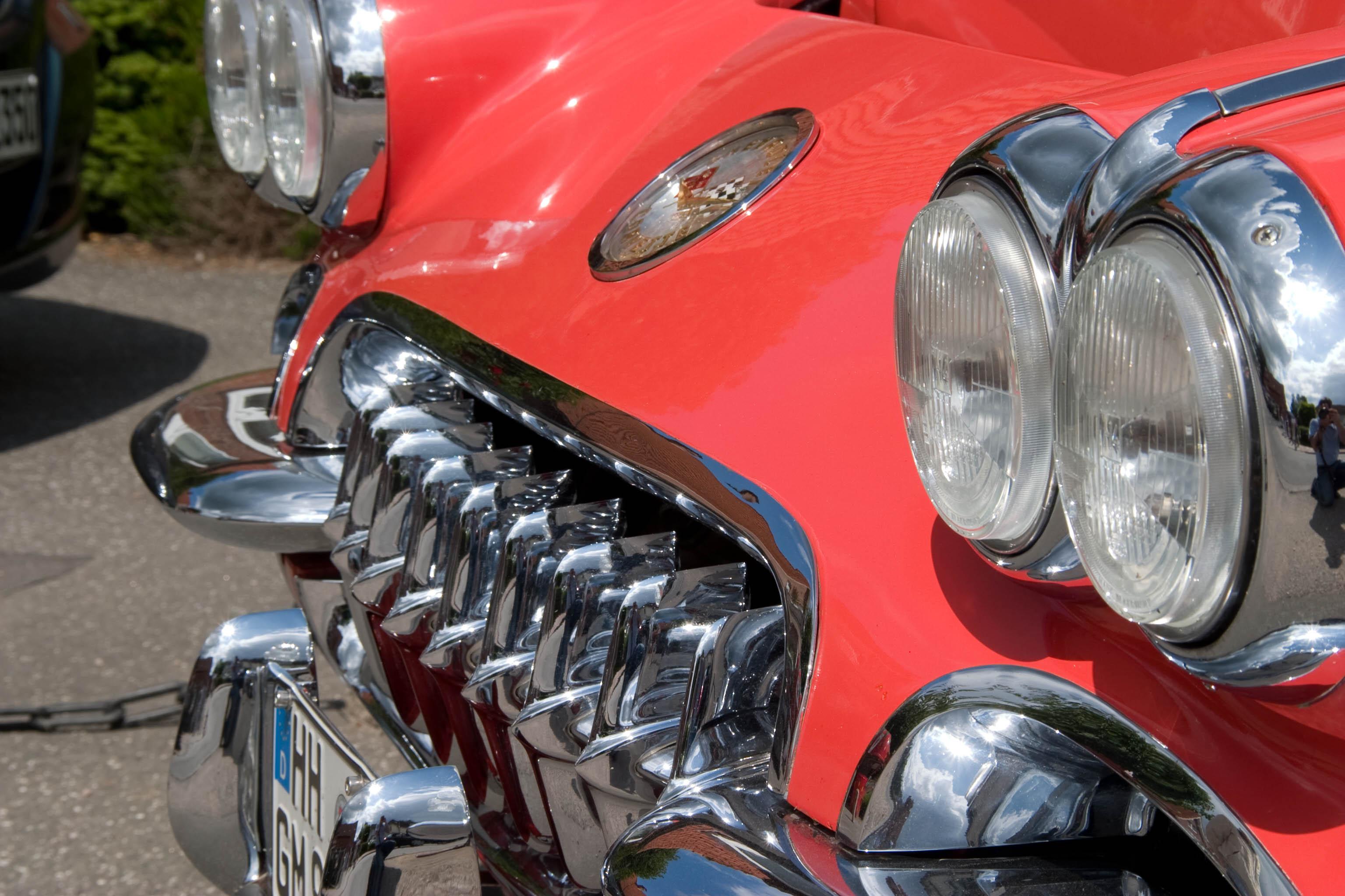 Auto, alte Corvette, Verkehrsrecht